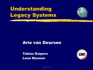 Understanding  Legacy Systems