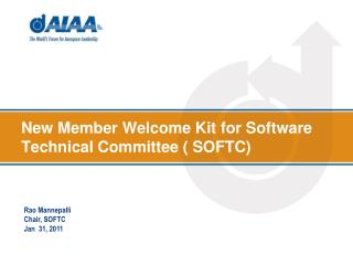 New Member Welcome Kit for Software Technical Committee ( SOFTC)