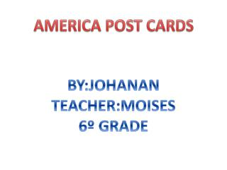AMERICA POST CARDS
