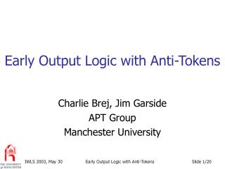 Early Output Logic with Anti-Tokens