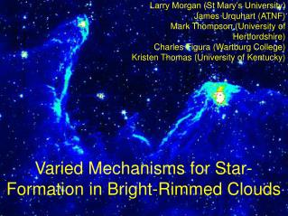Varied Mechanisms for Star-Formation in Bright-Rimmed Clouds