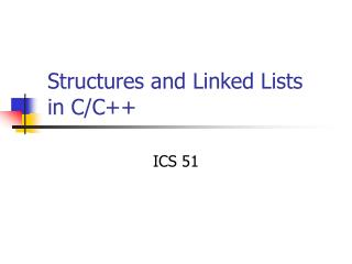 Structures and Linked Lists in C/C++