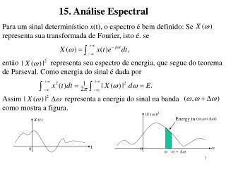 Para um sinal determinístico  x (t), o espectro é bem definido: Se
