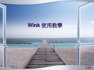 Wink  使用教學