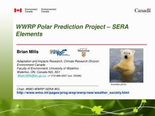WWRP Polar Prediction Project � SERA Elements