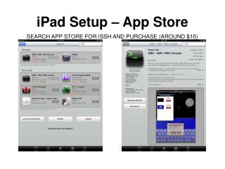 iPad Setup – App Store