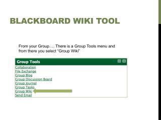 Blackboard WIKI Tool
