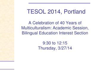 TESOL 2014, Portland