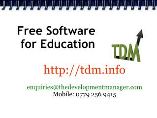 Free Software  for Education