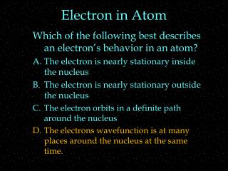 Electron in Atom