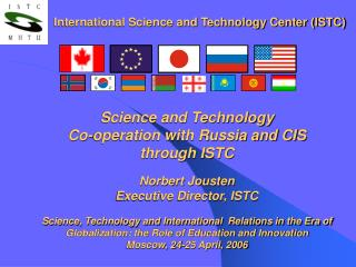 International Science and Technology Center (ISTC)