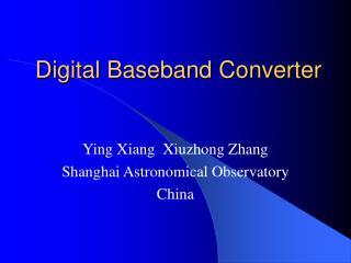 Digital Baseband Converter