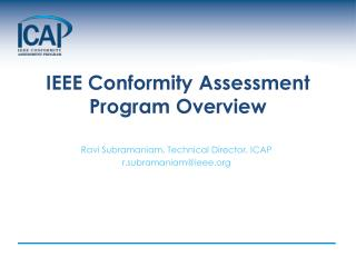 IEEE Conformity Assessment Program Overview