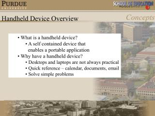 Handheld Device Overview