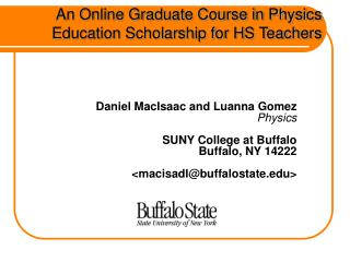 An Online Graduate Course in Physics Education Scholarship for HS Teachers