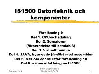 IS1500 Datorteknik och komponenter