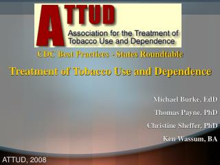 CDC Best Practices - States Roundtable Treatment of Tobacco Use and Dependence