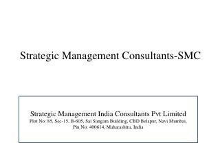 Strategic Management Consultants-SMC