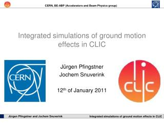 Integrated simulations of ground motion effects in CLIC