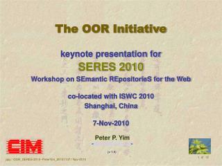 The OOR Initiative