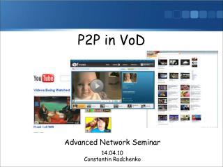 P2P in VoD