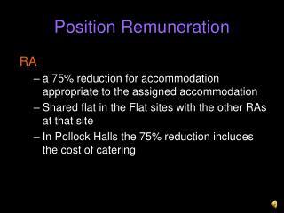Position Remuneration