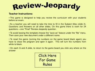 Review-Jeopardy
