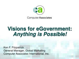 Visions for eGovernment: Anything is Possible!