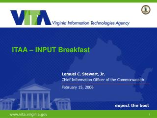 Lemuel C. Stewart, Jr. Chief Information Officer of the Commonwealth February 15, 2006