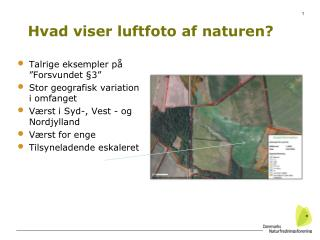Hvad viser luftfoto af naturen?