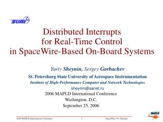 Distributed Interrupts  for Real-Time Control  in SpaceWire-Based On-Board Systems