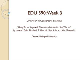 EDU 590: Week 3