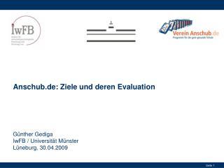 Anschub.de: Ziele und deren Evaluation