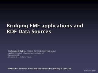 Bridging EMF applications and RDF Data Sources