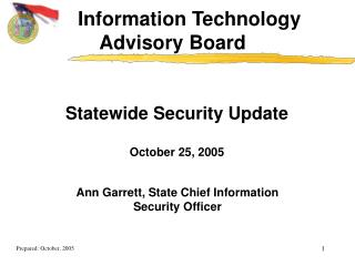 Statewide Security Update October 25, 2005