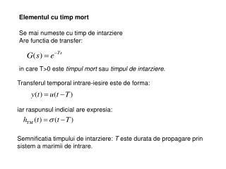 Elementul cu timp mort