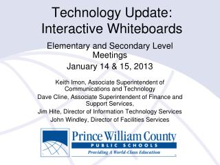 Technology Update: Interactive Whiteboards
