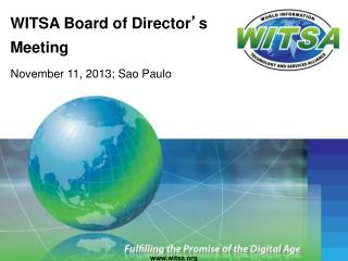 WITSA Board of Director � s Meeting