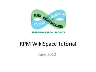 RPM WikiSpace Tutorial