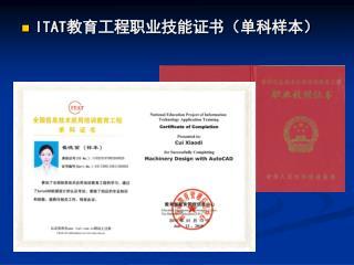 ITAT 教育工程职业技能证书(单科样本)