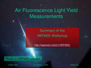 Air Fluorescence Light Yield Measurements