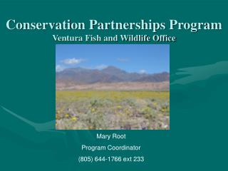 Conservation Partnerships Program Ventura Fish and Wildlife Office