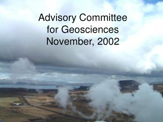 Advisory Committee for Geosciences November, 2002