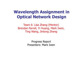 Wavelength Assignment in  Optical Network Design