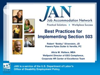 Best Practices for Implementing Section 503