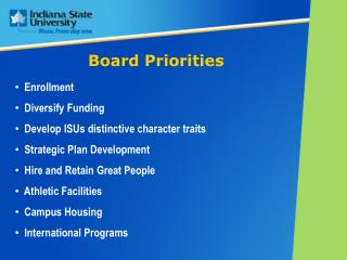 Board Priorities