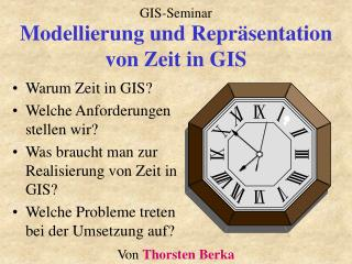 Modellierung und Repr sentation von Zeit in GIS