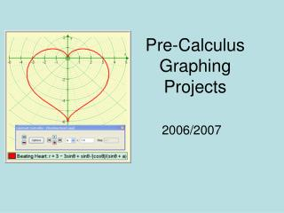 Pre-Calculus Graphing Projects