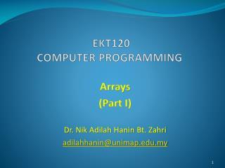 EKT120 COMPUTER PROGRAMMING