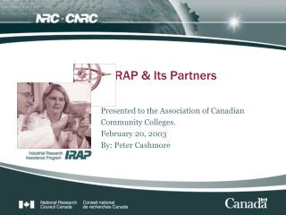 IRAP & Its Partners